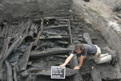 Überrest einer frühmittelalterlichen Wallburg